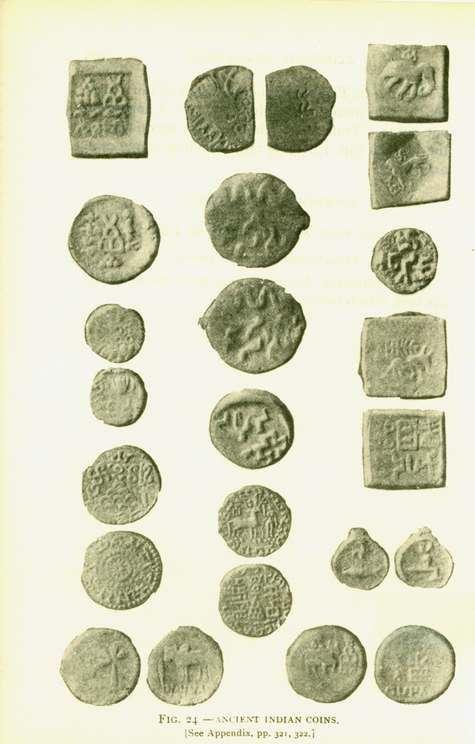 Fig. 24 Ancient Indian coins.