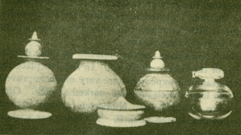 The Peppé vases. Found by Mr. Peppé in the Sakiya Tope.