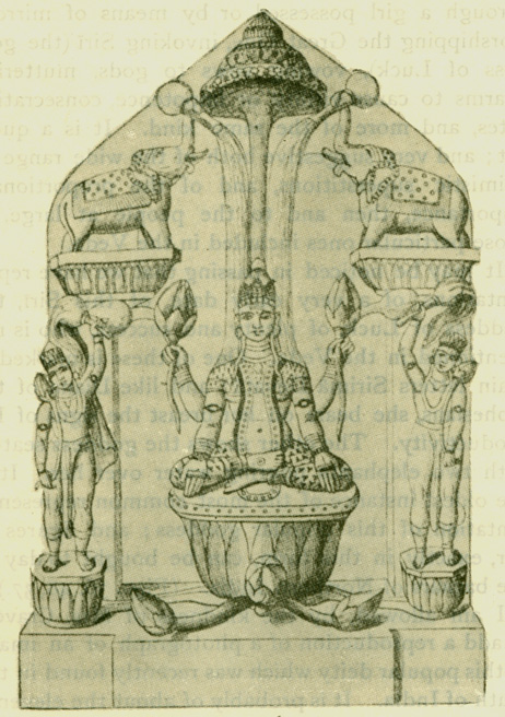 Fig. 37 Modern Image Of Sri As Consort Vishnu. [From Burgess's Cave Temples of lndia, p. 524.]